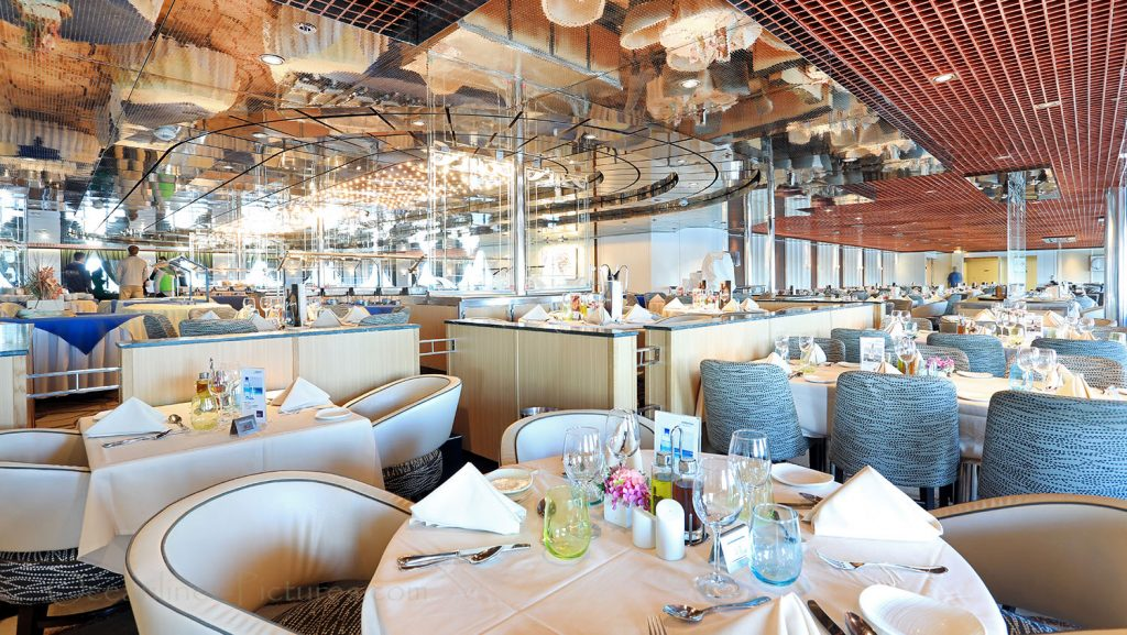 Main Dining Room Atlantico MS Zenith. / Foto: Oliver Asmussen/oceanliner-pictures.com