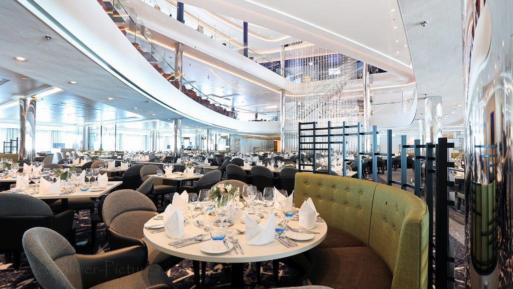 Mein Schiff 1 Atlantik Restaurant Klassik. / Foto: Oliver Asmussen/oceanliner-pictures.com