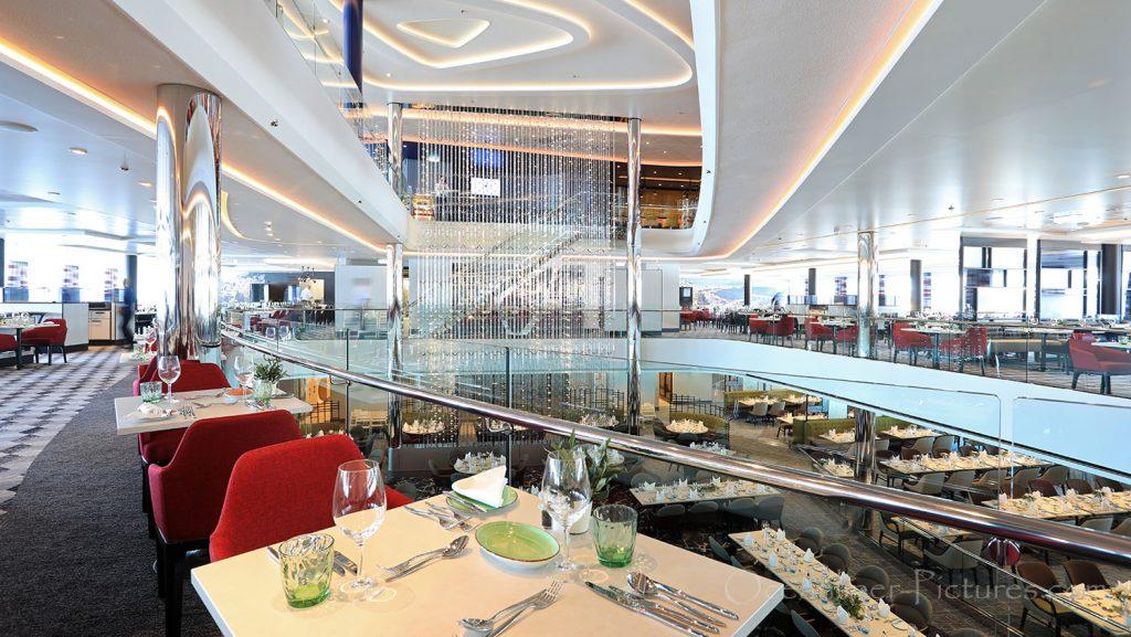 Mein Schiff 1 Atlantik Restaurant Mediterran. / Foto: Oliver Asmussen/oceanliner-pictures.com