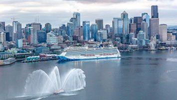 Die Norwegian Bliss am Bell Street Pier Cruise Terminal in Seattle. Foto: Norwegian Cruise Line