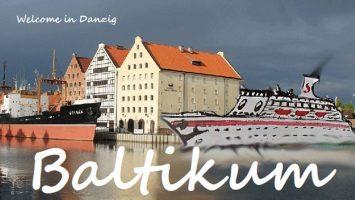 Auf ihrer Jungfernfahrt besucht die MS Schüppy auch Danzig. Illustration: Kreuzfahrtunikate/Boris Noruschat