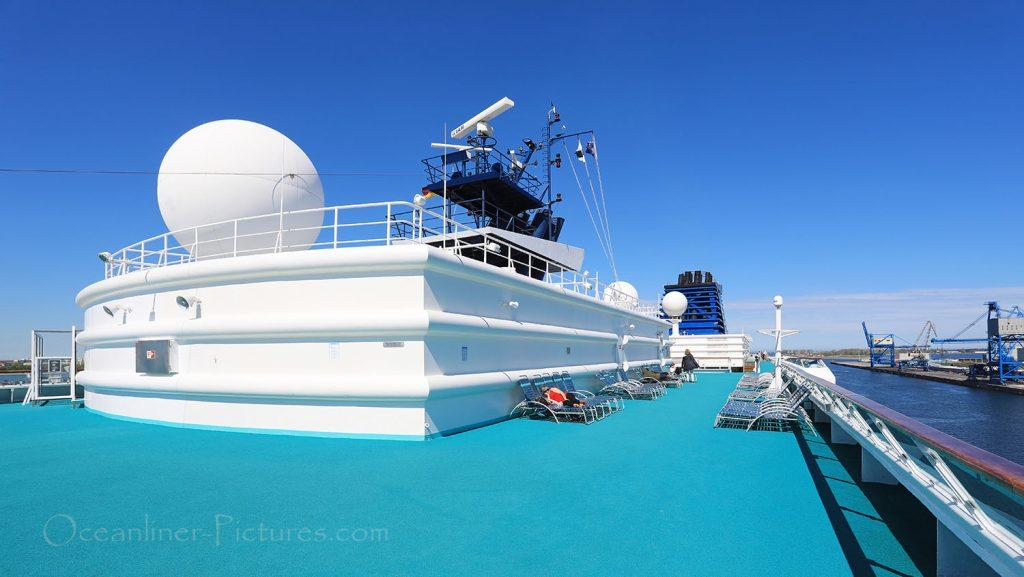 Solarium Sonnendeck MS Zenith. / Foto: Oliver Asmussen/oceanliner-pictures.com