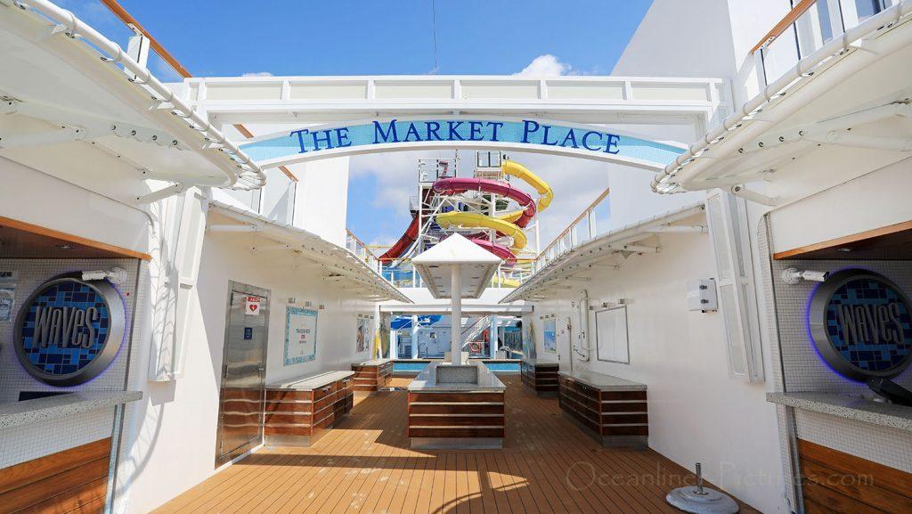 The Market Place und Bar Norwegian Breakaway. / Foto: Oliver Asmussen/oceanliner-pictures.com
