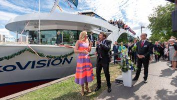Die nickoVISION wurde von Barbara Schöneberger getrauft. Foto: Julia Reisinger Fotografie/nicko cruises