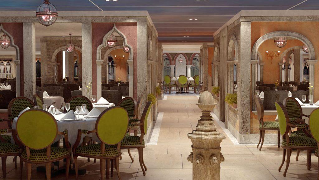 Blick in das Marco Polo Restaurant an Bord der Costa Venezia. Foto: Costa Kreuzfahrten