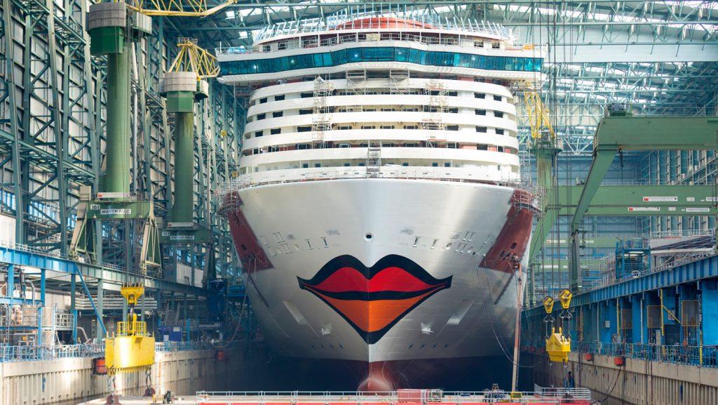 Blick auf dem Kussmund. Foto: AIDA Cruises