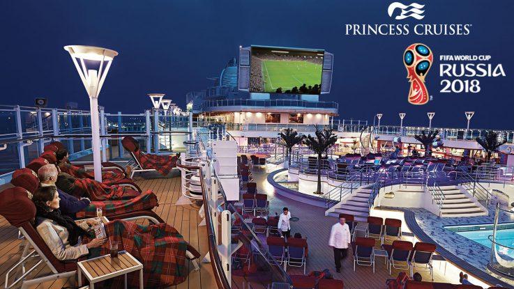 Weltmeisterlich wird es an Bord von Princess Cruises während der Fußball-WM. Foto: Princess Cruises