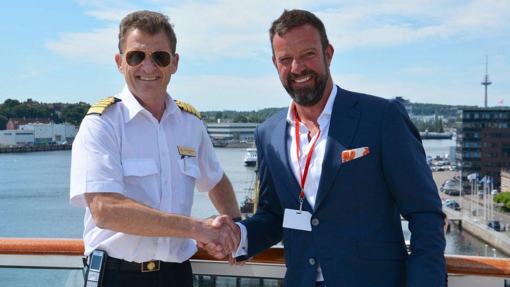 Begrüßung in Kiel: Foto: Port of Kiel