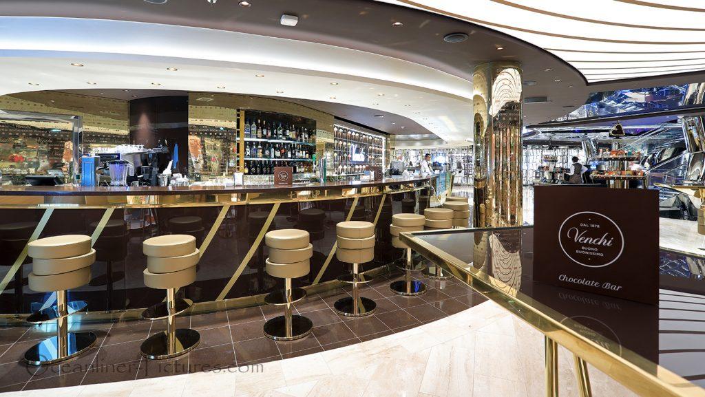 1878 Venchi Chocolate Bar MSC Seaview. / Foto: Oliver Asmussen/oceanliner-pictures.com
