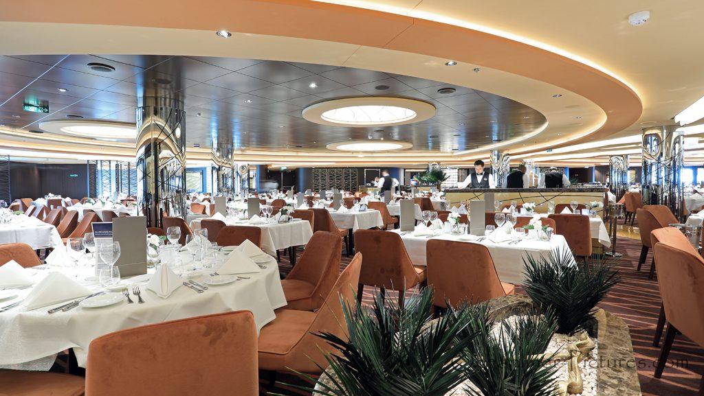 Golden Sand Restaurant MSC Seaview. / Foto: Oliver Asmussen/oceanliner-pictures.com