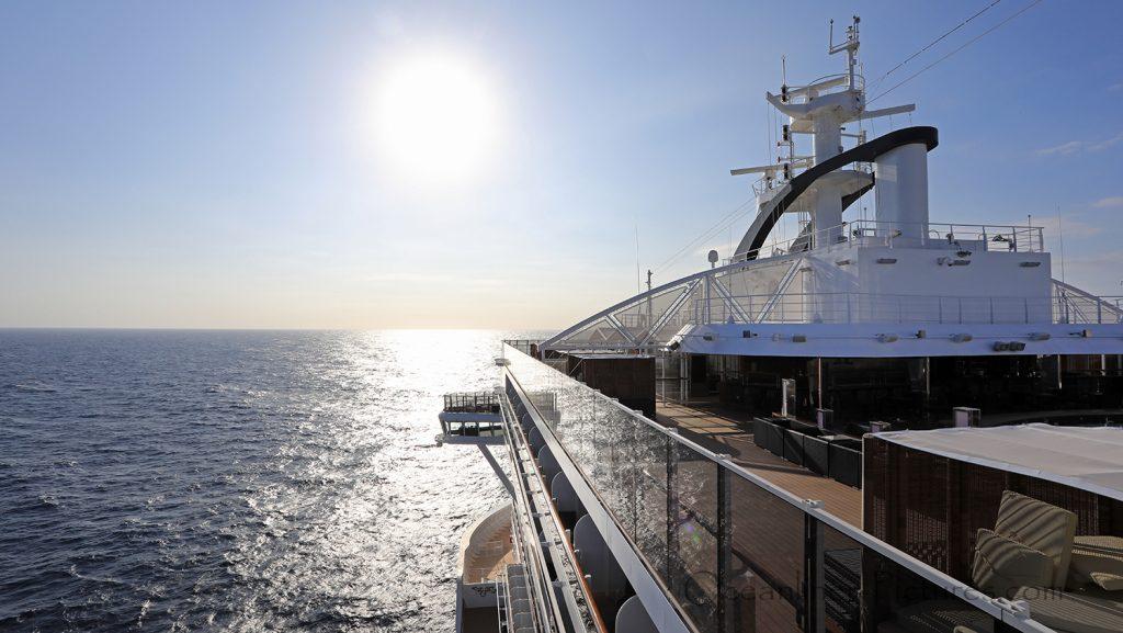 MSC Seaview Aurea Spa Top 19 Ausblick. / Foto: Oliver Asmussen/oceanliner-pictures.com