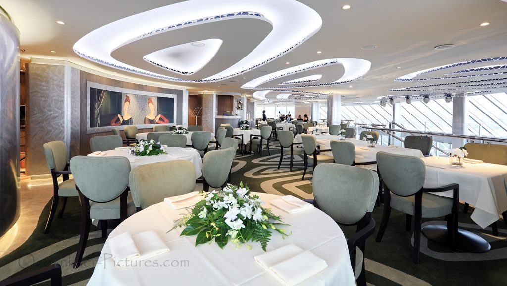 MSC Seaview Yacht Club Restaurant. / Foto: Oliver Asmussen/oceanliner-pictures.com