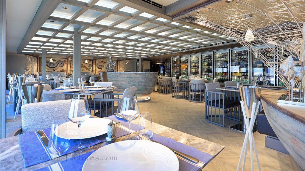 Ocean Cay Restaurant by Ramon Freixa MSC Seaview. / Foto: Oliver Asmussen/oceanliner-pictures.com