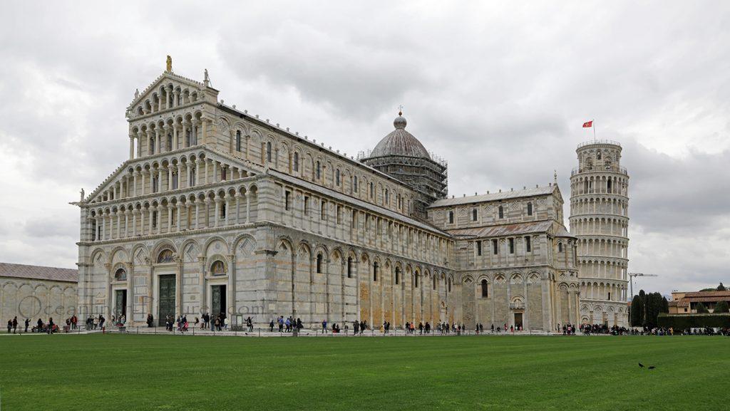 Pisa und schiefer Turm 10.04.2018. / Foto: Oliver Asmussen/oceanliner-pictures.com