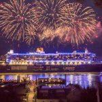 Auslauf der Queen Mary 2 aus dem Hamburger Hafen. Foto: Cunard/Florian Sonntag