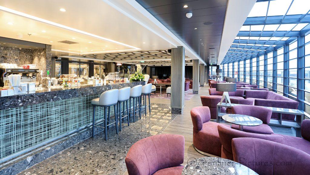 Seaside Lounge MSC Seaview. / Foto: Oliver Asmussen/oceanliner-pictures.com