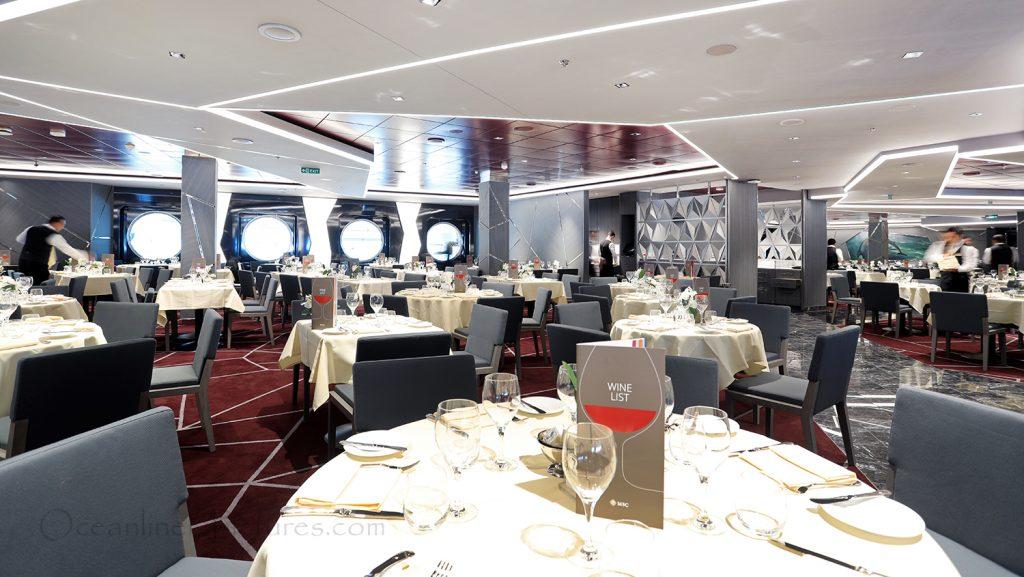 Silver Dolphin Restaurant MSC Seaview. / Foto: Oliver Asmussen/oceanliner-pictures.com