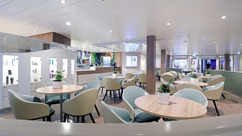 Vitality Cafe Symphony of the Seas. / Foto: Oliver Asmussen/oceanliner-pictures.com