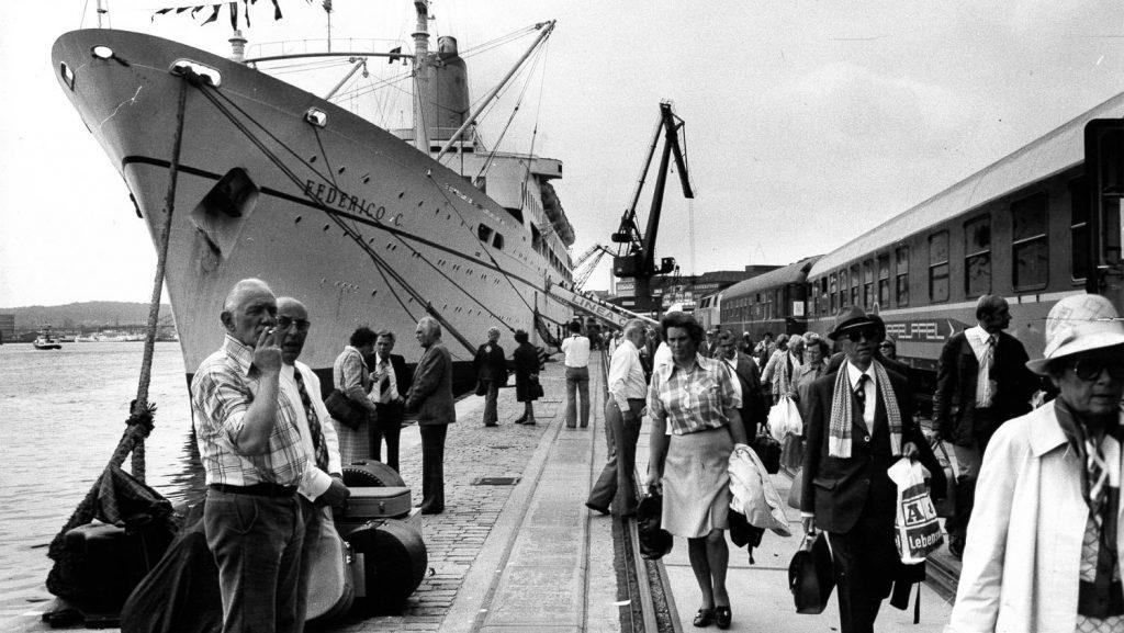Die Frederico C in Kiel. Foto: Magnussen Archiv/Port of Kiel