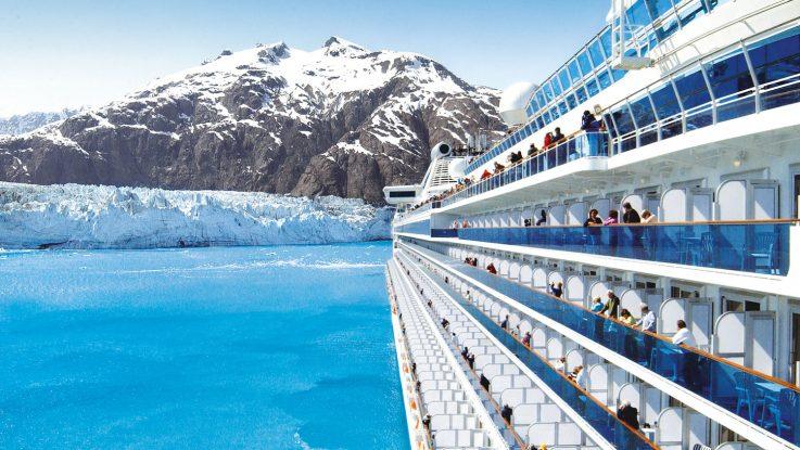 Island Princess in der Glacier Bay in Alaska. Foto: Princess Cruises