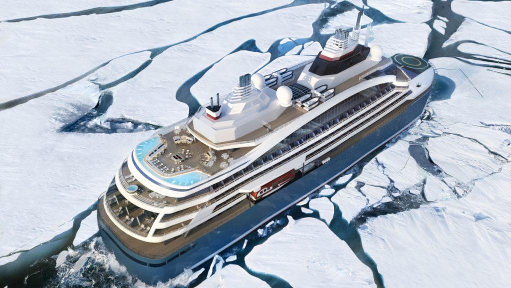 Mitten durch das Eis mit der  Le Commandant Charcot unterwegs. Foto: Ponant - Stirling Design International