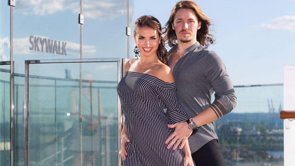 Gil Ofarim und Ekaterina Leonova. Foto: AIDA Cruises/Ulrich Perrey