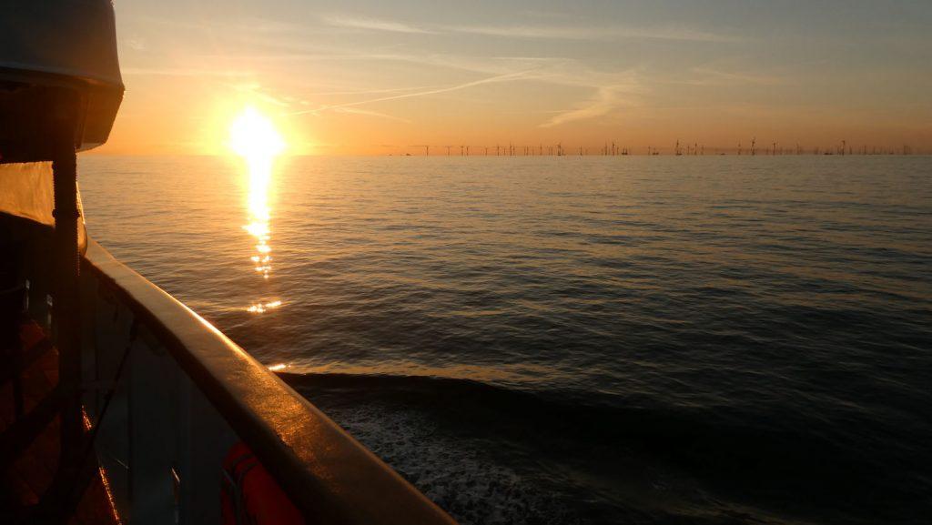 Sonnenuntergang über der Nordsee: Foto: Brina Stein