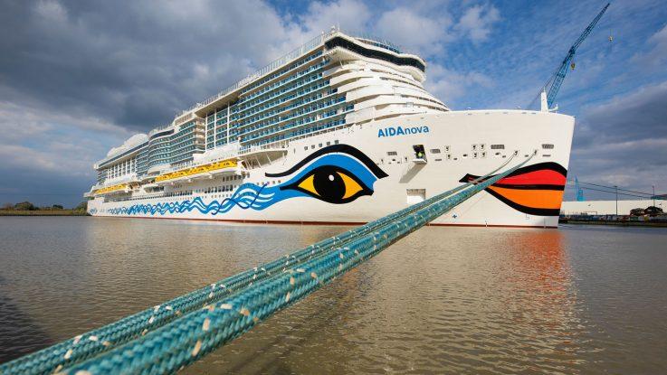 Die AIDAnova startet in Papenburg. Foto: AIDA Cruises