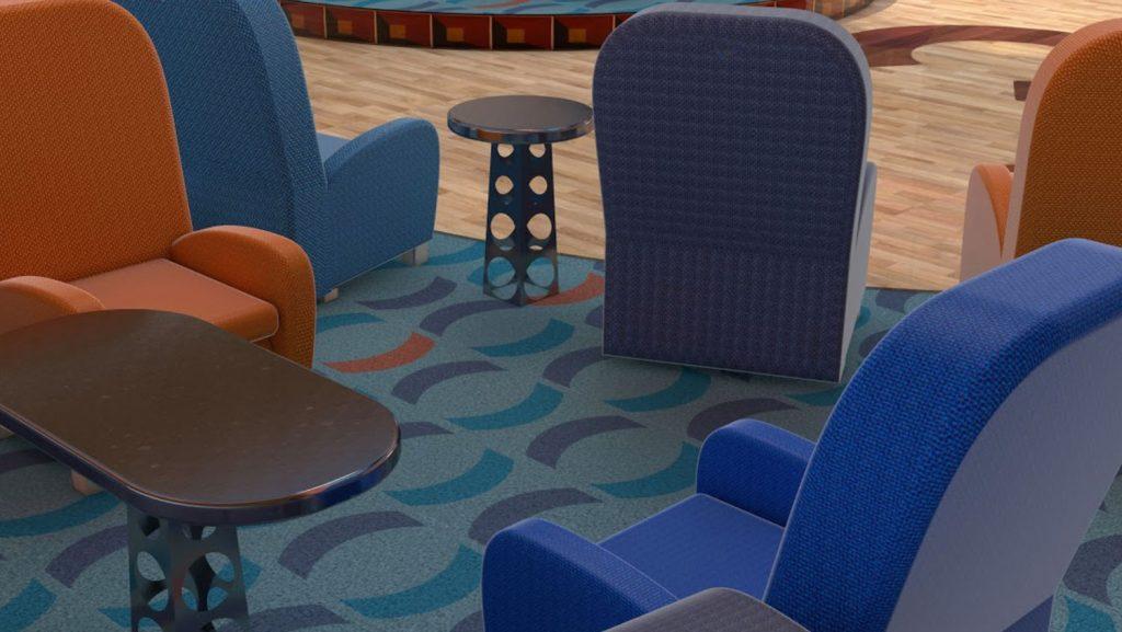 Neue Sitzmöglichkeiten. Foto: Costa Kreuzfahrten