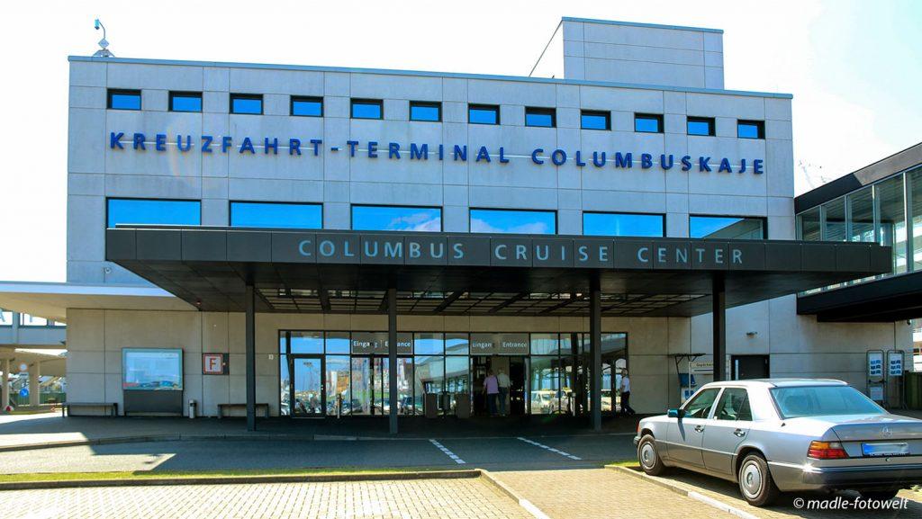 Blick auf die Columbuskaje. Foto: madle-fotowelt