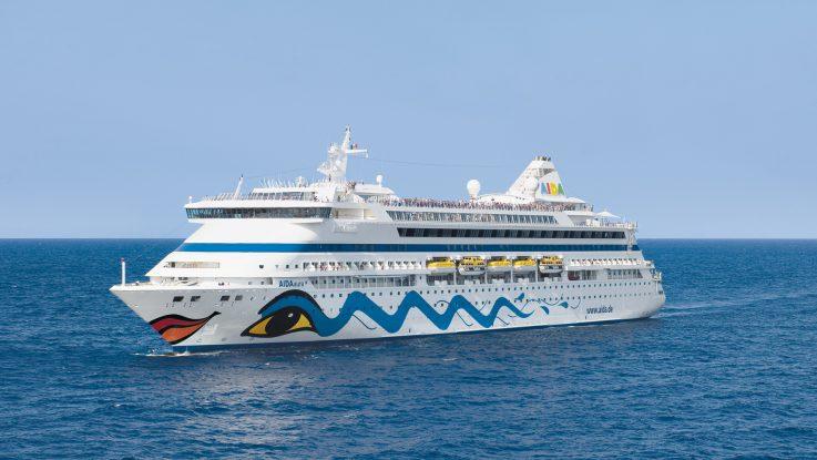 Die AIDAaura startet 2018 zur zweiten Weltreise von AIDA Crusies. Foto: AIDA Cruises