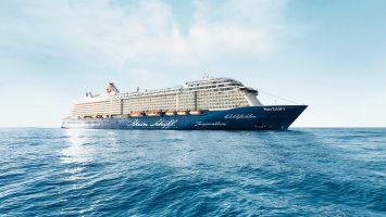 Außenansicht der Mein Schiff 4. Foto: TUI Cruises