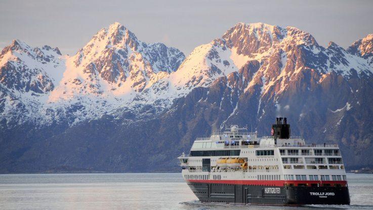 Die MS Trollfjord. Foto: Hurtigruten AS