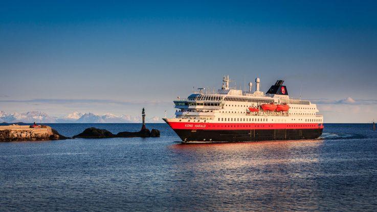 Die MS Kong Harald. Foto: Hurtigruten AS