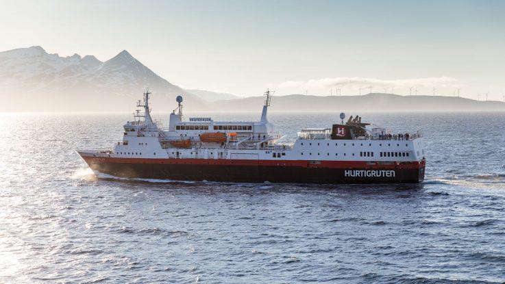 Die Ms Vesterålen. Foto: Hurtigruten AS