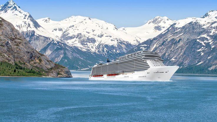 Die Norwegian Bliss vor Alaska. Foto: Norwegian Cruise Line