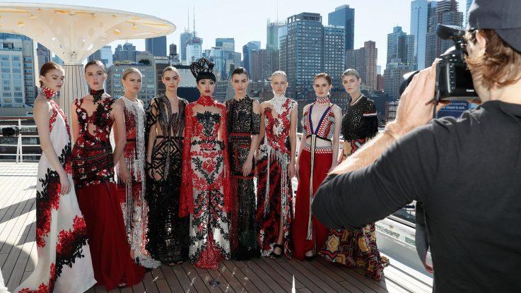 AIDAluna: Laufsteg für internationale High Fashion vor atemberaubender Kulisse von New York. Foto: AIDA Cruises