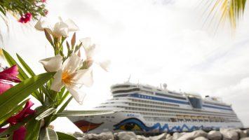AIDAluna in der Karibik. Foto: AIDA Cruises