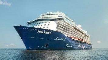 Die Mein Schiff 6 wird am 1. Juni 2017 in Hamburg getauft. Foto: TUI Cruises