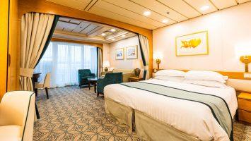 Sowohl die Mini-Suiten (Foto), wie auch die öffentlichen Bereiche wurden neu gestaltet. Foto: P&O Cruises