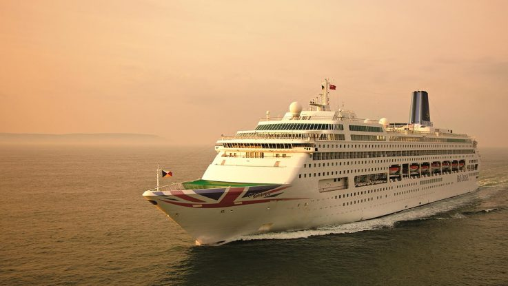 Die Oriana trägt nun ebenfalls den Union Jack am Rumpf. Foto: P&O Cruises