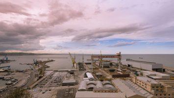 Die Fincantieri Werft in Ancona, hier wird die Viking Spirit gebaut. Foto: Fincantieri