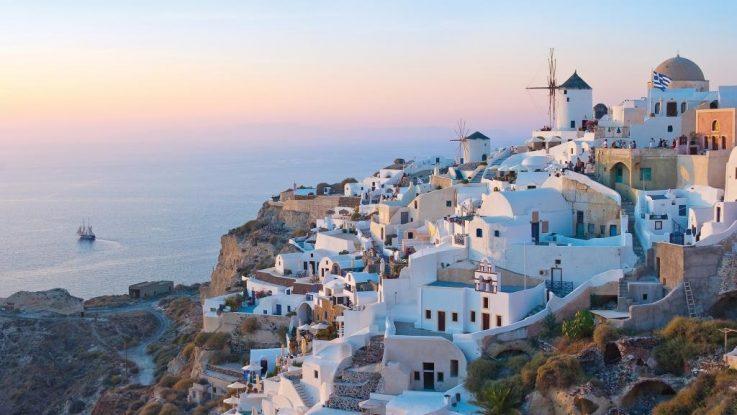Traumhafte Ziel: Santorini in Griechenland. Foto: Norwegian Cruise Line