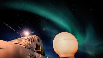 Nordlichter gehören zu den beeindruckensten Erlebnissen der Reise. Foto: AIDA Cruises