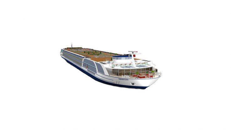 Die AmaMagna wird ab 2019 von AmaWaterways auf der Donau eingesetzt. Grafik: AmaWaterways