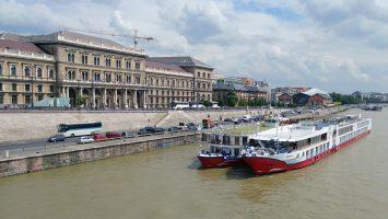 Die MS Heidelberg und die MS Maxima sind in Budapest angekommen. Foto: bergeest