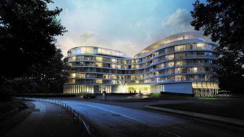 Das Hotel Fontenay direkt an der Außenalster bietet eine stilechte Kreuzfahrtsuite der MS Euopa 2. Foto: The Fontenay Hamburg