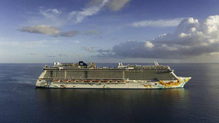 Norwegian Getaway erreicht neuen Heimathafen Warnemünde. Foto: Norwegian Cruise Line