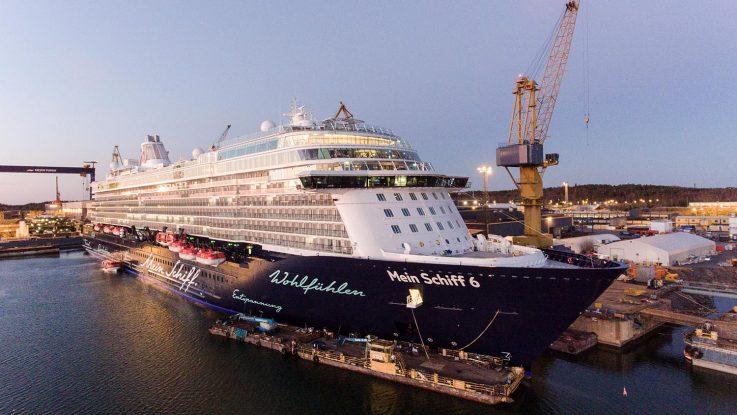 Endlich fertig. Die Mein Schiff 6 wurde heute an TUI Cruises übergeben. Foto: TUI Cruises
