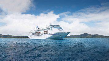 Das neue Flaggschiff von TransOcean: Die Columbus. Im Juli kann das Schiff besichtigt werden. Foto: TransOcean Kreuzfahrten